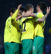 Picture by Paul Chesterton/Focus Images Ltd.  07904 640267.04/02/12.Andrew Surman of Norwich scores his sides 1st goal and celebrates during the Barclays Premier League match at Carrow Road stadium, Norwich.