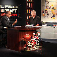 Tuesday, April 12, 2011 -- Winter Park, Fla. -- ESPN Innovation Lab at Full Sail University -- SportsCenter Special with ESPN NFL analyst Bill Parcells and ESPN Monday Night Football play-by-play commentator Mike Tirico..