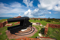 Canon on top of Fort Jefferson, Dry Tortugas National Park, Florida, United States of America
