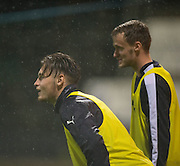 First time on the first team bench for youngsters Matty Smyth and Conor Quigley who signed in the summer from Stevenage and Swansea respectively - Dundee v Hamilton Academical in the Ladbrokes Scottish Premiership at Dens Park<br /> <br />  - &copy; David Young - www.davidyoungphoto.co.uk - email: davidyoungphoto@gmail.com