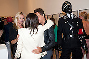 KATE MOSS; ANNABEL NEILSON; JAMIE HINCE, Jake or Dinos Chapman, White Cube, Mason's Yard and afterwards at The Tab Centre, Austin Street, London E2. 14 July 2011. <br /> <br />  , -DO NOT ARCHIVE-© Copyright Photograph by Dafydd Jones. 248 Clapham Rd. London SW9 0PZ. Tel 0207 820 0771. www.dafjones.com.