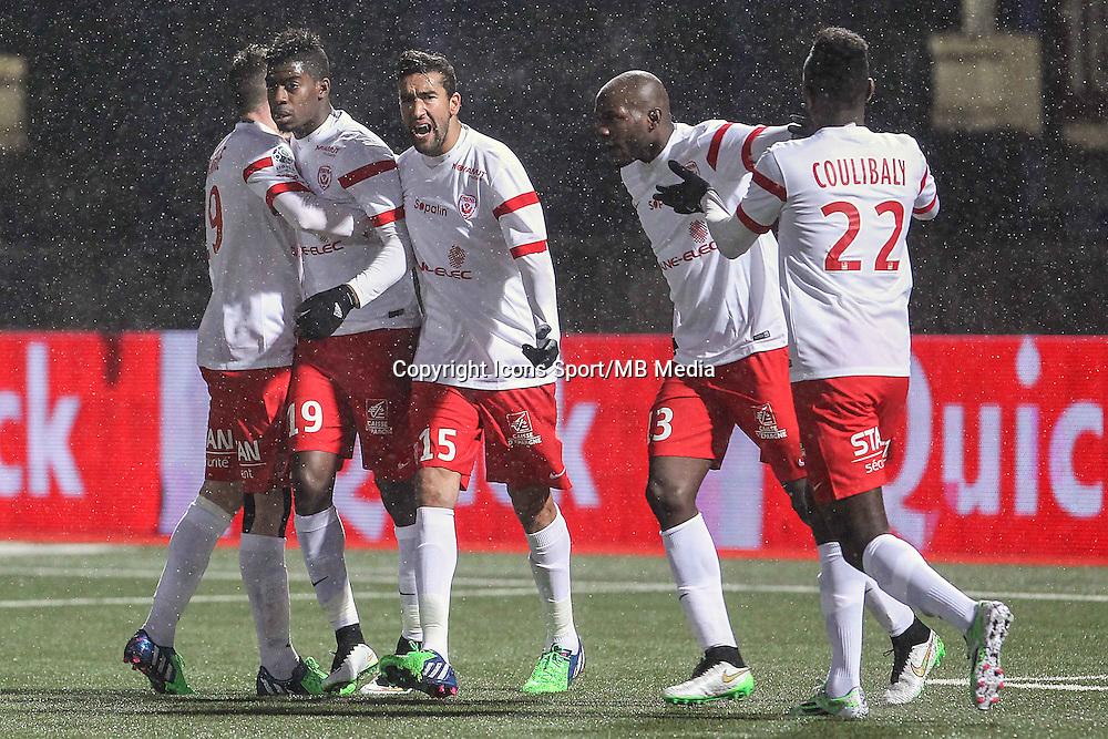 Joie Nancy - Mana DEMBELE / Youssouf HADJI - 19.01.2015 - Nancy / Orleans - 20e journee Ligue 2<br /> Photo : Fred Marvaux / Icon Sport