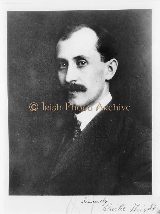 Wilbur Wright (1867-1912) American pioneer of aviation.