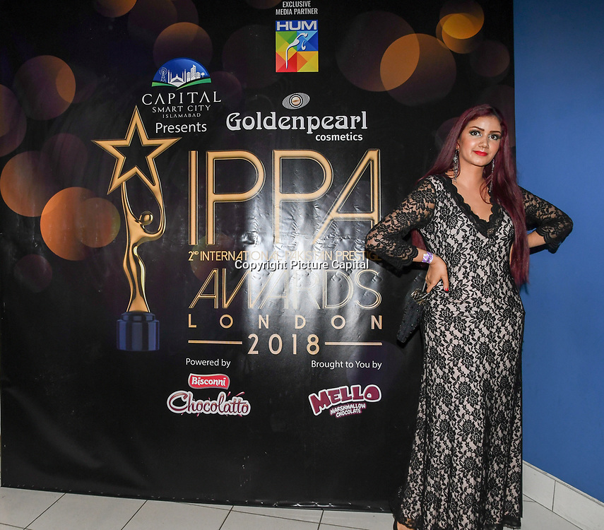 Safreen Khan is a Style Grimoires and a Instagram blogger arrives at the Annual International Pakistan Prestige Awards (IPPA) at Indigo at The O2 on 9th September 2018, London, UK.