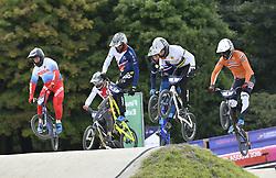 11-08-2018 BMX: EUROPEAN CHAMPIONSHIPS BMX CYCLING: GLASGOW<br /> Joris Harmsen (NED) geheel rechts<br /> <br /> Foto: SCS/Soenar Chamid