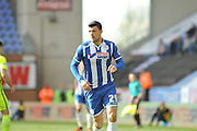 Wigan Striker Haris Vuckic during the Sky Bet League 1 match between Wigan Athletic and Southend United at the DW Stadium, Wigan, England on 23 April 2016. Photo by John Marfleet.