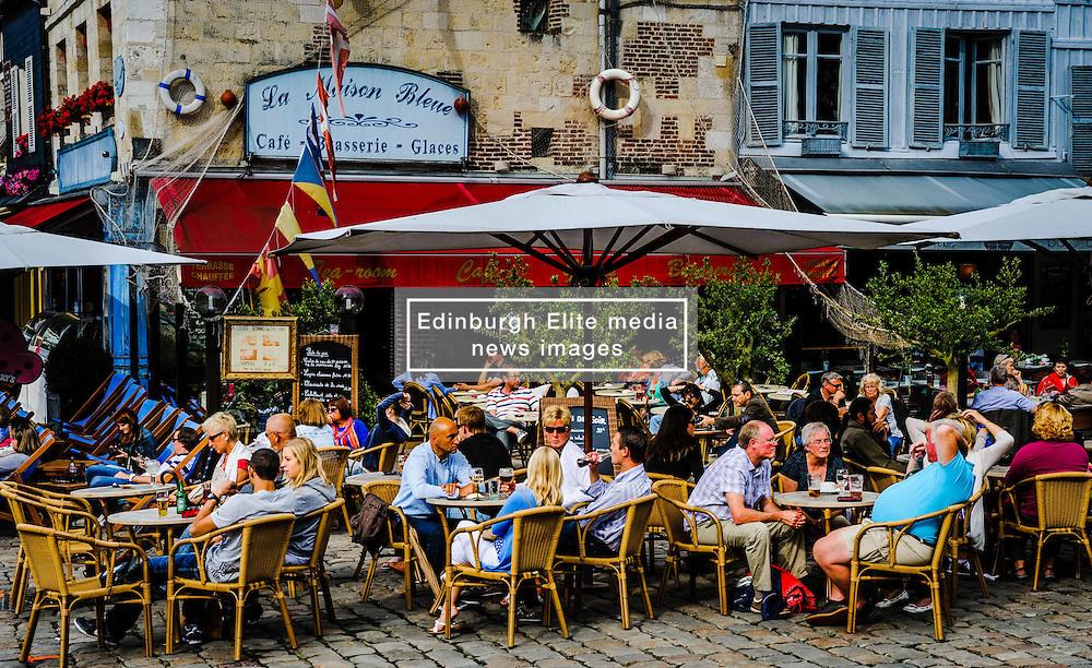 Restaurant near the harbour in Honfleur, Normandy, France