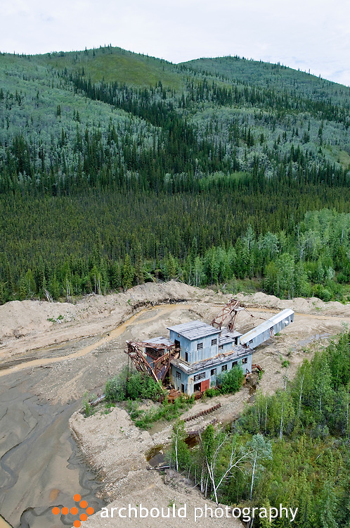 A gold dredge in the hills of Dawson, Yukon.<br /> <br /> NOT IN YOUR BUDGET? Contact Cathie for a price specific to your project.