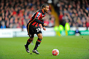 AFC Bournemouth forward Lewis Grabban during the The FA Cup fourth round match between Portsmouth and Bournemouth at Fratton Park, Portsmouth, England on 30 January 2016. Photo by Graham Hunt.