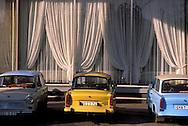 GDR, German Democratic Republic, Leipzig, Trabant cars, the iconic East German manufactured car.....DDR, Deutsche Demokratische Republik, Leipzig, geparkte Trabis...Januar/January 1990....