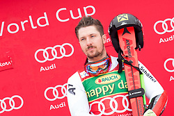 Winner Marcel Hirscher of Austria during flower ceremony after Men's GiantSlalom race of FIS Alpine Ski World Cup 57th Vitranc Cup 2018, on March 3, 2018 in Kranjska Gora, Slovenia. Photo by Urban Urbanc / Sportida