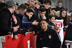 March 15, 2019 - Lille, France, FRANCE - LOPES Rony (Monaco) avec les supporters Lillois (Credit Image: © Panoramic via ZUMA Press)