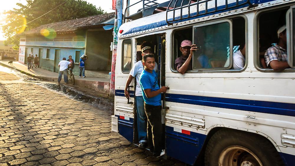 A local Chicken bus in Moyogalpa, Isla de Ometepe,Nicaragua