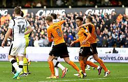 Helder Costa of Wolverhampton Wanderers celebrates scoring a goal to make it 2-1 - Mandatory by-line: Robbie Stephenson/JMP - 05/11/2016 - FOOTBALL - Molineux - Wolverhampton, England - Wolverhampton Wanderers v Derby County - Sky Bet Championship