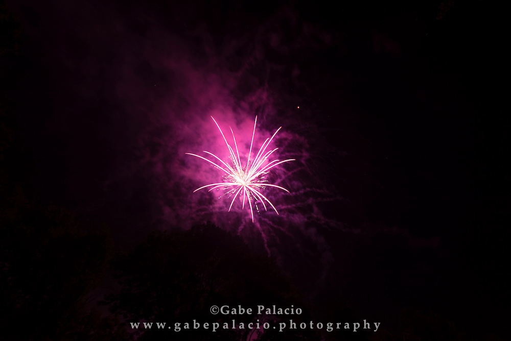 Fourth of July fireworks at Caramoor in Katonah New York on July 4, 2015. <br /> (photo by Gabe Palacio)