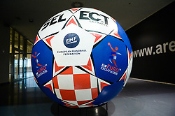Official Match Ball during handball match between National teams of Germany and Czech Republic on Day 2 in Main Round of Men's EHF EURO 2018, on January 19, 2018 in Arena Varazdin, Varazdin, Croatia. Photo by Mario Horvat / Sportida