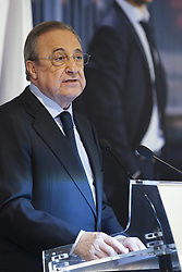 June 14, 2018 - Madrid, Spain - Florentino Perez, President of Real Madrid speaks before announcing Julen Lopetegui as new coach at Santiago Bernabeu Stadium on June 14, 2018 in Madrid, Spain. (Credit Image: © Oscar Gonzalez/NurPhoto via ZUMA Press)