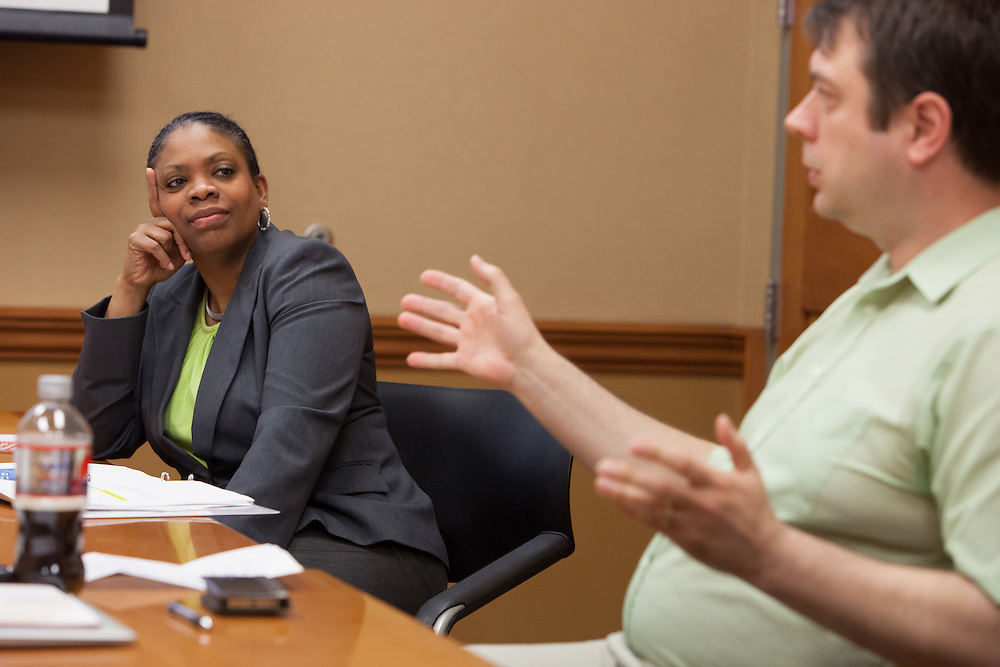 University Communications and Marketing conducts a media training workshop for Ohio University employees that are typically put into a position to act as a spokesperson for the University. Photo by Ohio University / Jonathan Adams