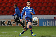 Bradford City midfielder Romain Vincelot warms up ahead of  the EFL Sky Bet League 1 match between Doncaster Rovers and Bradford City at the Keepmoat Stadium, Doncaster, England on 19 March 2018. Picture by Aaron  Lupton.