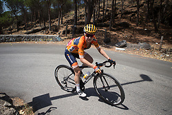 Megan Guarnier (USA) of Boels-Dolmans Cycling Team chases the front trio on the final climb of Stage 10 of the Giro Rosa - a 124 km road race, starting and finishing in Torre Del Greco on July 9, 2017, in Naples, Italy. (Photo by Balint Hamvas/Velofocus.com)