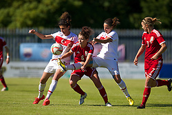 HAVERFORDWEST, WALES - Saturday, June 14, 2014: Wales' Angharad James in action against Turkey during the FIFA Women's World Cup Canada 2015 Qualifying Group 6 match at the Bridge Meadow Stadium. (Pic by David Rawcliffe/Propaganda)