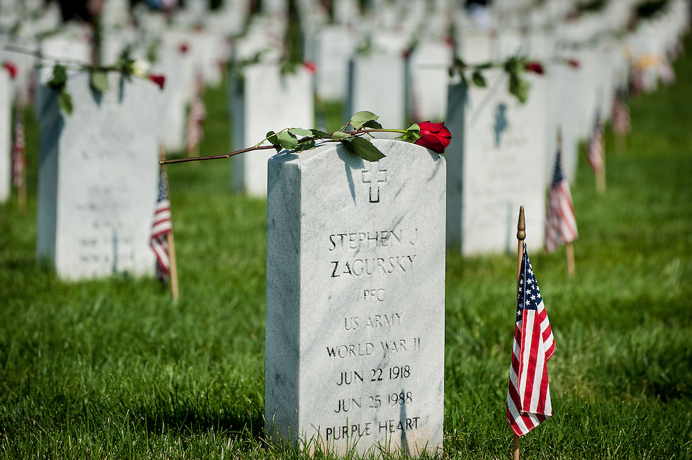 Memorial Day at Arlington National Cemetery in Arlington, VA, USA on 28 May, 2012.