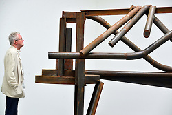 Anthony Caro, Park Avenue Series.<br /> Sir Anthony Caro, Park Avenue Series, press view. Internationally respected British abstract sculptor visits his exhibition ahead of the private view. The display presents new sculpture series of work which evolved while planning a large scale public sculpture for New York City. Exhibition opens today. Gagosian, <br /> London, United Kingdom<br /> Thursday, 6th June 2013<br /> Picture by Nils Jorgensen / i-Images