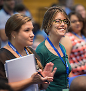 Incoming teachers participate in the New Teacher Academy held at Kingdom Builders, July 28, 2014.