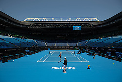 Maria Sharapova of Russia plays a training session ahead of  2019 Australian Open at Melbourne Park in Melbourne, Australia on January 7, 2019. Maria Sharapova of Russia plays a training session ahead of 2019 Australian Open at Melbourne Park in Melbourne, Australia on January 7, 2019.....??????????2019?1?7?....??????????????????????????2019????????????1?14??1?27? (Credit Image: © Elizabeth Xue Bai/Xinhua via ZUMA Wire)