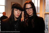 "Atara Valentine and Renee Dorski attends the opening of ""Lady"" by Douglas Friedman at the Ruffian Gallery on April 23, 2009 in New York City."