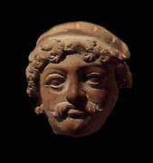 Man's head. 5th century, 6th century terracotta from Jammu and Kashmir, India