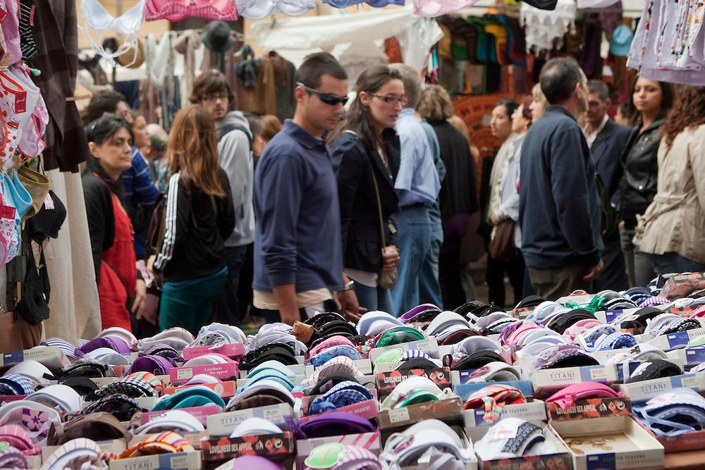El Rastro, Madrid's traditional antiques and flea market.