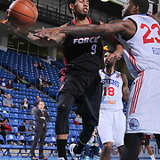 Sioux Falls Skyforce Guard Michael Williams (9) attempts to pass the ball as Delaware 87ers Forward Victor Rudd (23) attempts to deflect the pass in the Second half of a NBA D-league regular season basketball game between the Delaware 87ers and the Sioux Falls Skyforce (Miami Heat) Tuesday, Jan. 27, 2015 at The Bob Carpenter Sports Convocation Center in Newark, DEL
