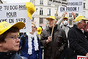 France, Paris, 7 October 2016. Protest march by Asbestos victims' families.