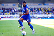 Wimbledon forward Jake Jervis (10), on loan from Luton Town, in action  during the EFL Sky Bet League 1 match between Burton Albion and AFC Wimbledon at the Pirelli Stadium, Burton upon Trent, England on 1 September 2018.