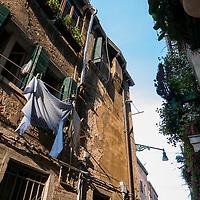 Laundry day in Venice, Italy.