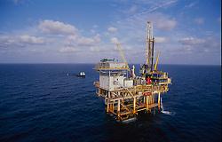 Stock photo of an offshore petroleum  production platform