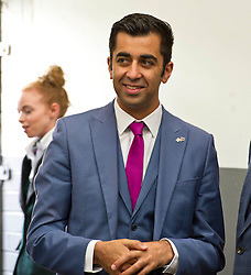 Pictured: Humza Yousaf MSP <br /> Transport minister Humza Yousaf MSP headed to Broxburn today to view a mock-up of the lay-out of the new Caledonian Sleeper cars which will come into service in 2018. He met executives of Caledonian Sleeper and was shown round the carraige by Managing Director Peter Strachan<br /> <br /> (c) Ger Harley | Edinburgh Elite media