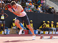 POTCHEFSTROOM, SOUTH AFRICA, Saturday 24 March 2012, LJ van Zyl out of the blocks in the 400m for men during the Yellow Pages Series 2 athletics meeting at the McArthur Stadium..Photo by Roger Sedres/Image SA