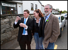 MAY 23 2014 Gerry Adams voting in European elections