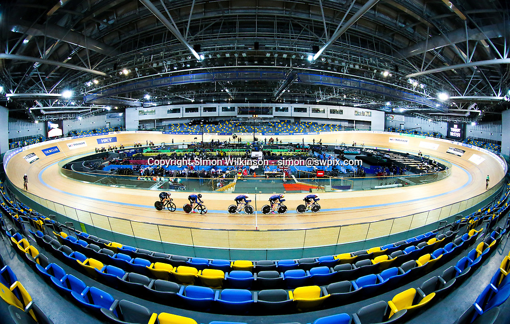 Picture by Alex Whitehead/SWpix.com - 11/04/2017 - Cycling - 2017 UCI Track Cycling World Championships - Hong Kong Velodrome, Tseung Kwan O, Hong Kong - A General View (GV). USA Women's Team Pursuit.