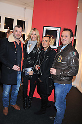 Left to right, SEBASTIEN BARBEREAU, MELISSA ODABASH, JULIEN MACDONALD and ROB VAN HELDEN at a Private View of Bruno Bisang 30 Years of Polaroids held at The Little Black Gallery, 13A Park Walk, London SW10 on 15th January 2013.