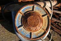 Rusty fishing equipment, Dunmore East, Co Waterford, Ireland