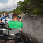 Wooten's Everglades airboat tours near Everglades City on the Tamiami Trail in South Florida. <br /> Photography by Jose More