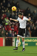 Sheffield United midfielder Chris Basham  during the Sky Bet League 1 match between Scunthorpe United and Sheffield Utd at Glanford Park, Scunthorpe, England on 19 December 2015. Photo by Ian Lyall.
