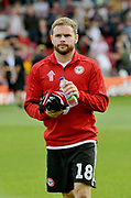 Brentford's Alan Judge during the EFL Sky Bet Championship match between Brentford and Wigan Athletic at Griffin Park, London, England on 15 September 2018.