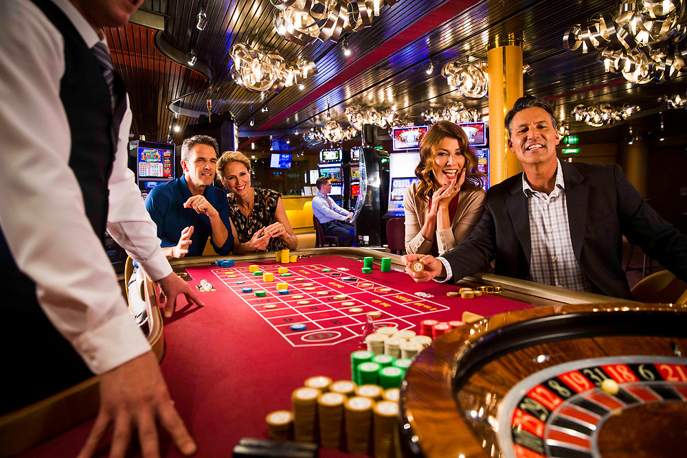 Holland America  Shoot 2017. San Deigo to Vancouver BC. April 2017. Casino and Beverage Advertising Photography of casino with two couples enjoying the tables and playing roulette