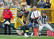 GREEN BAY, WI - SEPTEMBER 25:  Wide receiver Robert Ferguson #89 of the Green Bay Packers catches a 37 yard touchdown pass in the first quarter against the Tampa Bay Buccaneers at Lambeau Field on September 25, 2005 in Green Bay, Wisconsin. The Buccaneers defeated the Packers 17-16. ©Paul Anthony Spinelli *** Local Caption *** Robert Ferguson