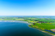 Nederland, Friesland, Súdwest-Fryslân, 07-05-2018; <br /> Polder C Draaijer en Dijkvaart, ten Noorden van Stavoren, ter hoogte van Molkwerum, Kust IJsselmeer.<br /> <br /> luchtfoto (toeslag op standard tarieven);<br /> aerial photo (additional fee required);<br /> copyright foto/photo Siebe Swart