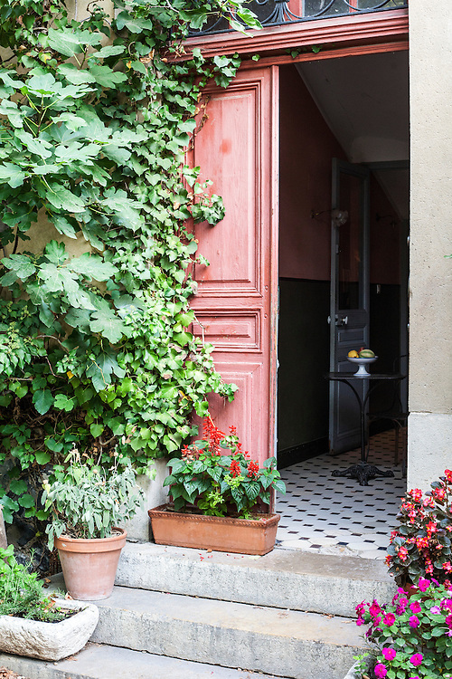 Entrance of Cézanne's house where he painted in Aix-en-Provence, France.